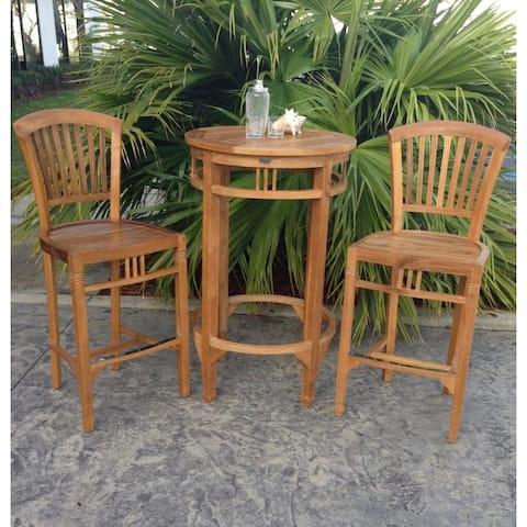 Chic Teak Orleans Teak Wood Indoor/ Outdoor Counter Stool Chair