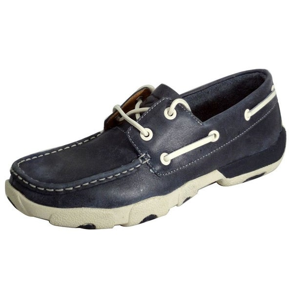 Twisted X Casual Shoes Womens Driving Moccasin Blue Bomber