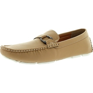 J's Awake Mens Kelvin-28 Casual Slip On Loafers Moccasins Boat Shoes - Tan