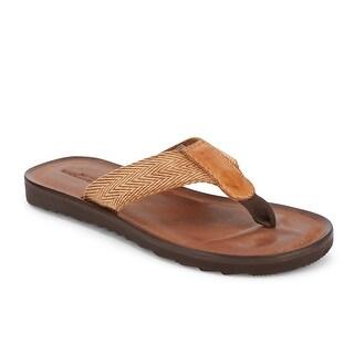 Lucky Brand Mens Aiden Woven Flip-Flop Sandal Shoe