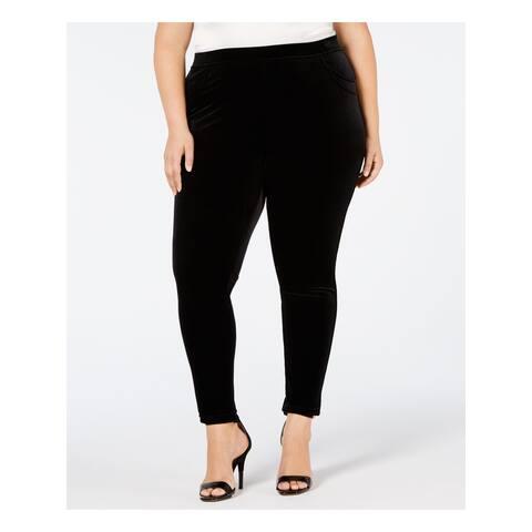 CALVIN KLEIN Womens Black Skinny Pants Size 0X
