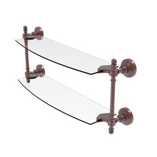 Allied Brass Retro Wave Collection Two Tiered Glass Shelf