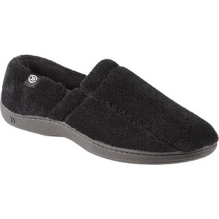 Isotoner Men's Microterry Slip On Black