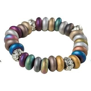 Women's Electroplated Hematite Bracelet - BERRY