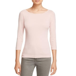Three Dots Womens Pullover Top Scoop Neck Solid