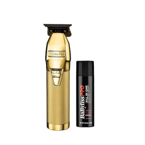 BaBylissPRO Gold FX Skeleton Outliner Cordless Trimmer with Clipper Spray