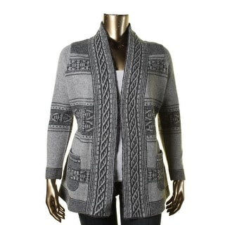 Pendleton Womens Plus Wool Blend Discovery Stripe Cardigan Sweater - 1X