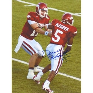 Darren McFadden Arkansas Razorbacks Autographed 85x11 Photo This item comes with a certificate of authenticity from A