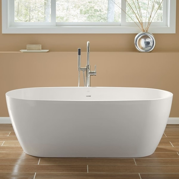 Mirabelle Mirocfs6632 Ocala 66 Free Standing Soaking Tub With Center Drain White