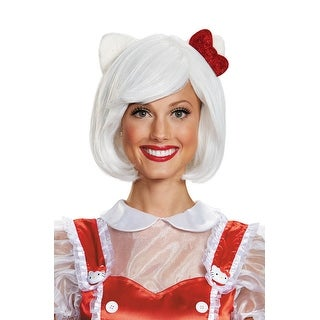 Disguise Hello Kitty Adult Wig - White