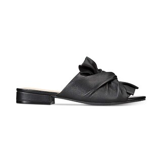 Kenneth Cole New York Womens Violet Leather Open Toe Casual Slide Sandals