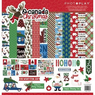 """Photoplay Collection Pack 12""""X12""""-O Canada Christmas"""