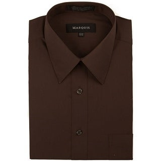 Link to Classic Regular Fit Long Sleeve Point Collar Dress Shirt Similar Items in Shirts