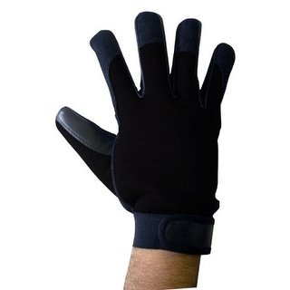 Boss Tech Mechanic's Style Touch Screen Gloves, Texting Gloves for All Touch Scr