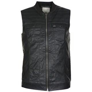 Calvin Klein Jeans Coated Cotton Full Zip Vest Black Medium M