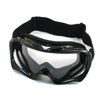 Unique Bargains Cycling Winter Eye Wearing Clear Lens Protected Glasses Ski Goggles Black