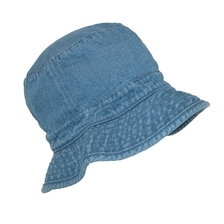 CTM® Kids' Denim Blue Sun Outdoor Bucket Hat - Denim Blue - One Size