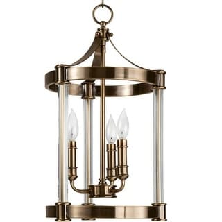 """Park Harbor PHPL5023 12"""" Wide 3 Light Single Pendant with Candle Style Arms"""