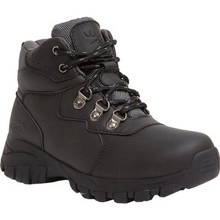 Deer Stags Boys' Gorp Boot Black Simulated Leather/Nylon