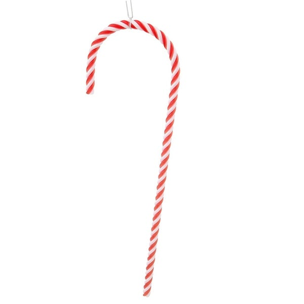 """Pack of 2 Red and White Striped Candy Cane Christmas Ornaments 18"""""""