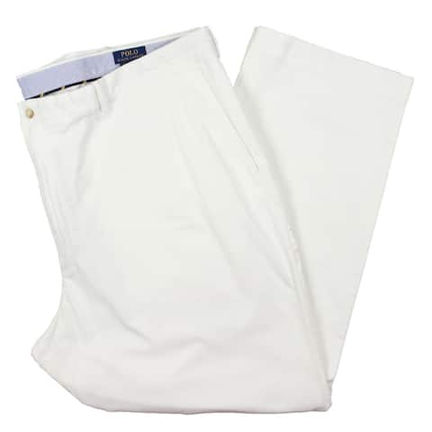 Polo Ralph Lauren Mens Big & Tall Dress Pants Office Classic Fit - White