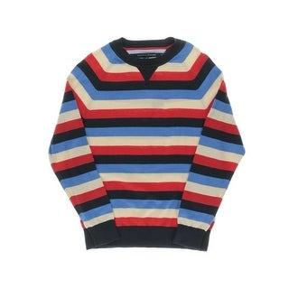 Tommy Hilfiger Mens Raglan Sleeves Crew Neck Pullover Sweater