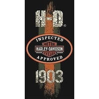 Harley-Davidson 1903 Vintage Road Sign Beach Towel 30 in. X 60 in.