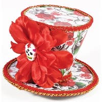 Day Of The Dead Mini Costume Top Hat - Red