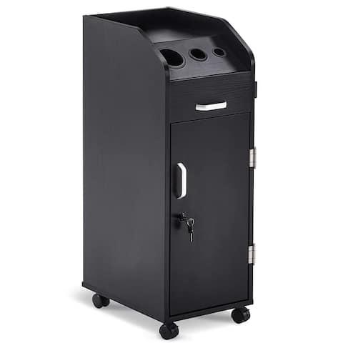 BarberPub Salon Trolley Storage Cart Beauty Hair Dryer Holder 2011