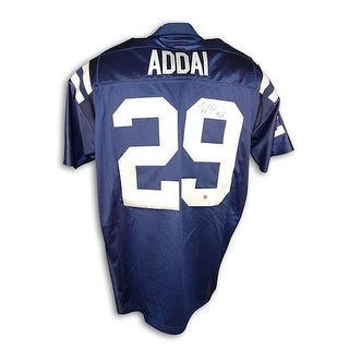 Autographed Joseph Addai Indianapolis Colts Blue Authentic Reebok Jersey