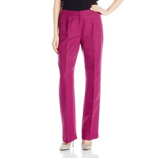 Le Suit NEW Pink Berry Career Pleated Women's Size 8X32 Dress Pants
