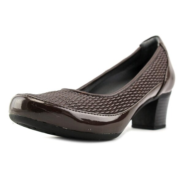 FootSmart Christine Round Toe Synthetic Heels