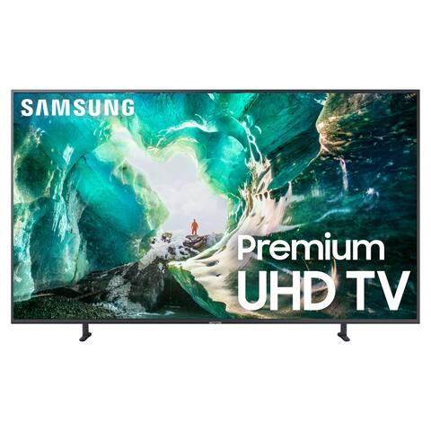 "Samsung UN55RU8000 55"" 4K UHD Smart TV with Bixby Intelligent Voice Assistant - Grey"