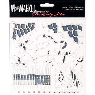 "Escape White - 49 & Market Archival Chipboard 6""X6"""