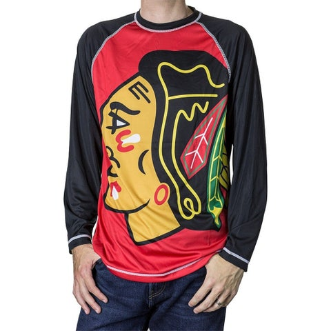 Chicago Blackhawks Performance Rash Guard Long Sleeve Shirt