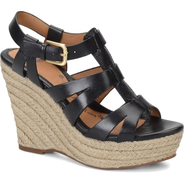 0c82a96b33bc Shop Sofft Women s Pahana Wedges Ankle Strap Dress Sandals - Free Shipping  Today - Overstock.com - 14526894