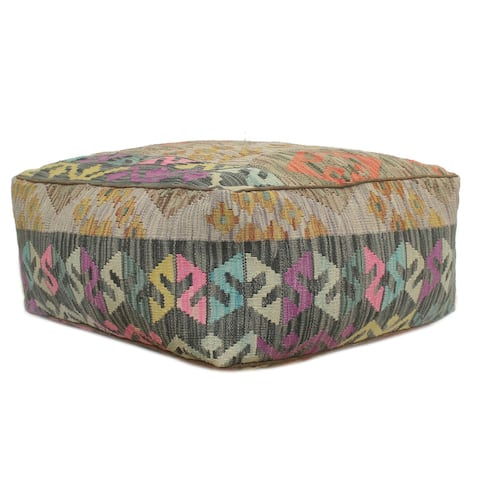 Rustic Tilley Handmade Kilim Upholstered Floor Cushion