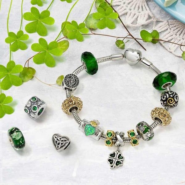 CELTIC KNOT/_Bead for Silver European Chain Charm Bracelet/_Irish Trinity/_E26