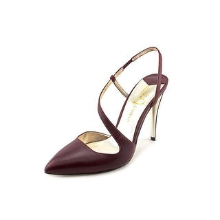 Joan & David Annabeth Women Pointed Toe Leather Burgundy Heels