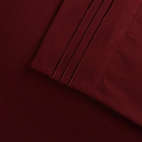 Superior Wrinkle Resistant Emboidered Microfiber Deep Pocket Bed Sheet Set