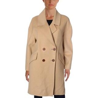 Diane Von Furstenberg Womens Pea Coat Wool Lightweight - S