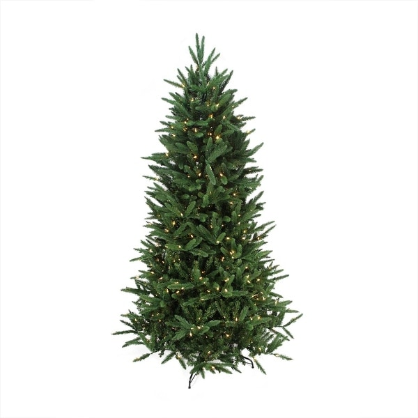 7.5' Pre-Lit Mixed Pine Multi-Function Artificial Christmas Tree- w/ Remote Control -Clear/Multi