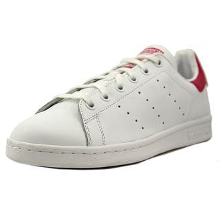 Adidas Stan Smith Youth Round Toe Leather White Sneakers|https://ak1.ostkcdn.com/images/products/is/images/direct/2ac83dc853d8dae1d0a3adda0bfabc495932810b/Adidas-Stan-Smith-Round-Toe-Leather-Sneakers.jpg?impolicy=medium