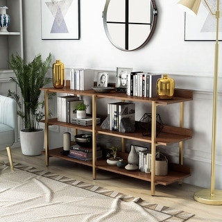 Link to Furniture of America Bizi Contemporary  Metal Wide Display Shelf Similar Items in Office Storage & Organization