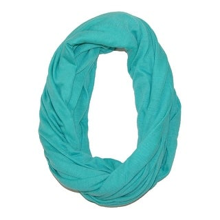 CTM® Women's Solid Infinity Loop Scarf with Hidden Zipper Pocket
