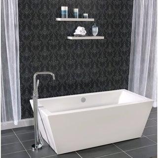 "Miseno MNO6732FSQ 67"" x 32"" Rectangular Freestanding Acrylic Bathtub - Includes Drain Assembly - White"