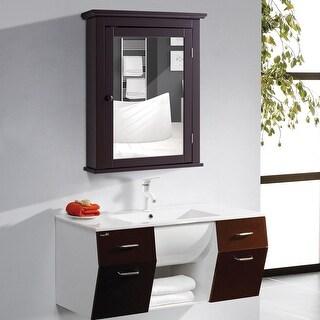Shop Gymax Bathroom Mirror Cabinet Wall Mounted Medicine