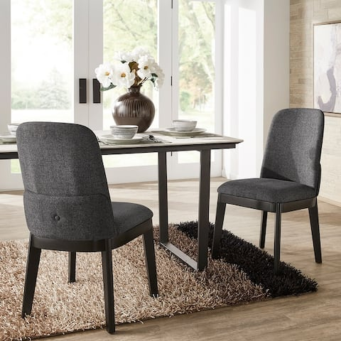 Hawthorne Black Heathered Dining Chair (Set of 2) by iNSPIRE Q Modern