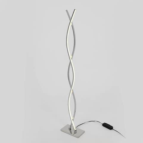 Artika Wave LED Integrated Floor Lamp, Chrome