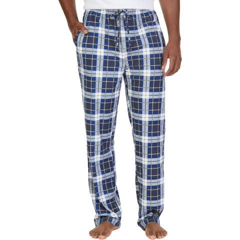 Nautica Mens Sleep Pant Flannel Plaid